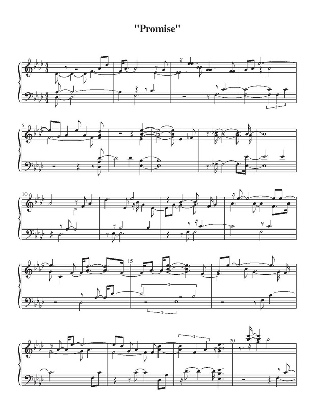 Promise - Jagged Edge - Sheet Music - Virtually Smooth Piano Lessons